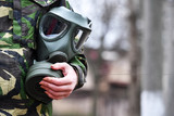 Gas mask protection against a chemical attack  - 143381098