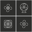 Fan icon set.
