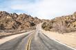 Endless road In Joshua Tree California