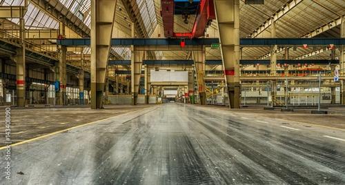 industriel, friches,vintage,usine,entrepôt,structures métalliques,abandonné,vide,vitres,