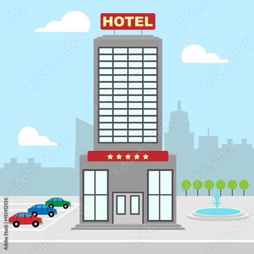 Hotel Vacation Shows City Accomodation 3d Illustration