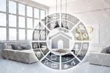 Smart Home Steuerung im Wohnzimmer - 143430895