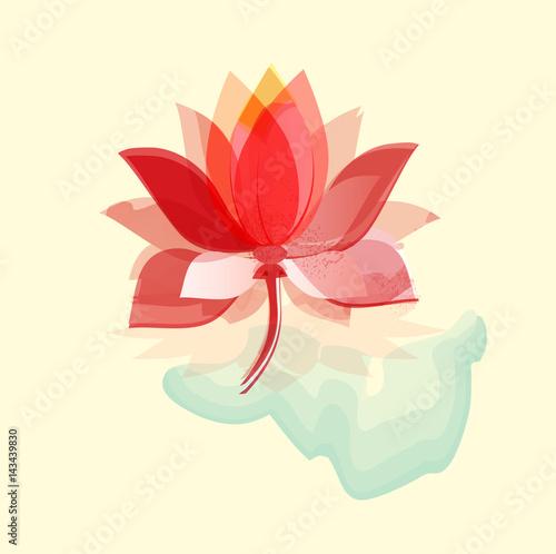 Lotus in watercolors.