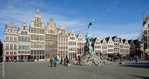 Keuken foto achterwand Antwerpen View on the historical Grote Markt of Antwerp, Belgium.