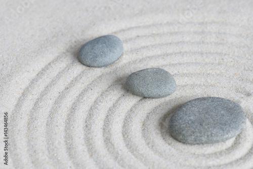 Foto op Aluminium Stenen in het Zand Zen Kieselsteine