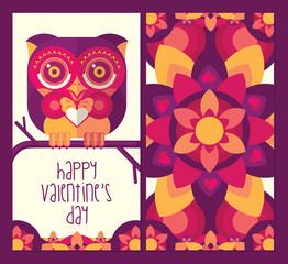 Owl Happy Valentine's Day Greeting Card