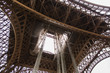 Travel through Europe. Eiffel Tower against the sky in Paris. Attractions in France