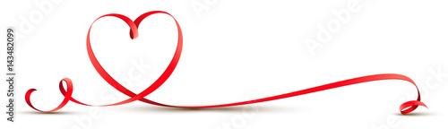 Geschwungenes Herz Band - Schleife © Artenauta