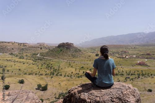 Foto op Canvas Marokko Voyage au sud du Maroc : kasbah de Tizourgane