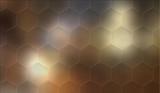 Hexagonal mosaic background - 143489656