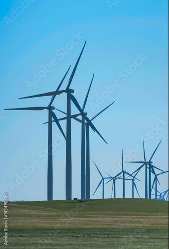 Wind Turbine Creating Clean Energy Poster