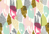 Fototapety Vector seamless pattern with hand drawn gold glitter textured brush strokes