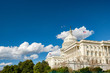 U.S. Capitol -- Sun and Clouds Wide with Trees
