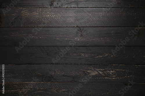 black wooden table texture background. - 143531055