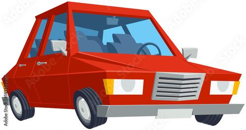 Fotobehang Auto Cute Cartoon Car.