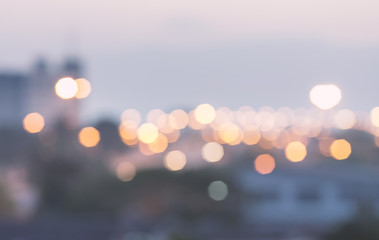 Abstract bokeh night garden in city background