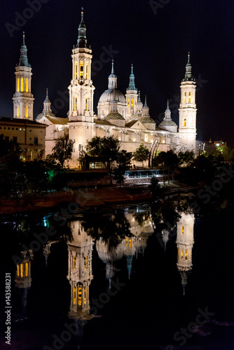 El Pilar temple in Zaragoza. Spain