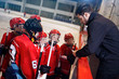 tactics coach in game hockey in ice.