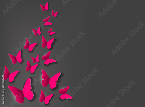 Abstract Paper Cut Out Butterfly Background. Vector Illustration - 143602668