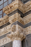 Detail of the Corinthian columns of the courtyard of the Ulu Cami  in  Diyarbakir, Turkey.