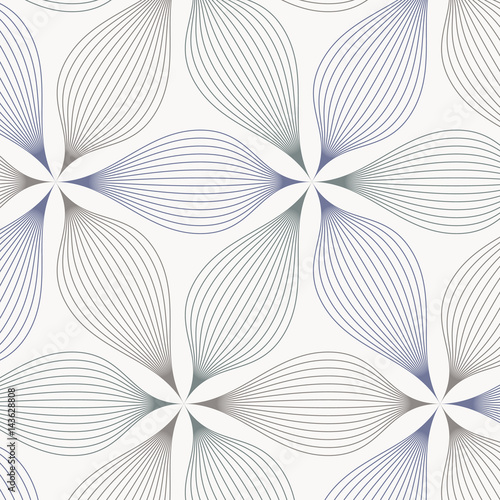 abstract linear petal flower. Vector pattern - 143628808