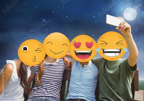 friends emoji face Poster