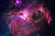 Nebula, stars and galaxy in deep space.
