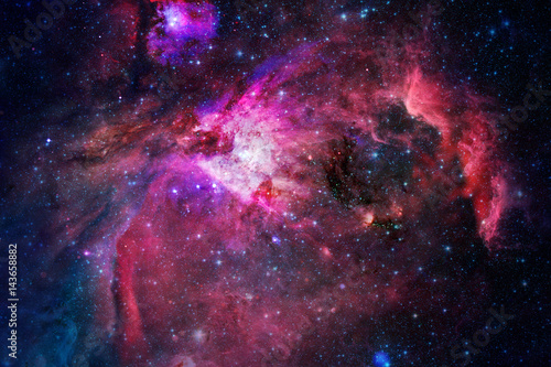 Poster Nebula, stars and galaxy in deep space.