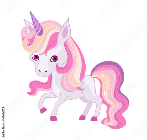 Poster Pony Illustration of a very cute unicorn in pastel colors.Illustration of a very cute unicorn in pastel colors.