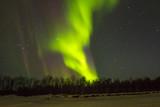 Northern Lights (Aurora borealis) over snowscape