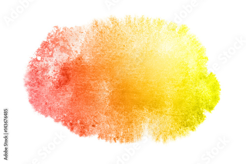 Yellow-red watercolor stain