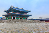 Gyeongbok or Gyeongbokgung palace in Seoul City, Seoul, South Korea.