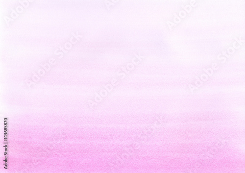 Hand painted watercolor background. Watercolour wash. Pink hand drawn texture. Rose-color gradient background. - 143695870
