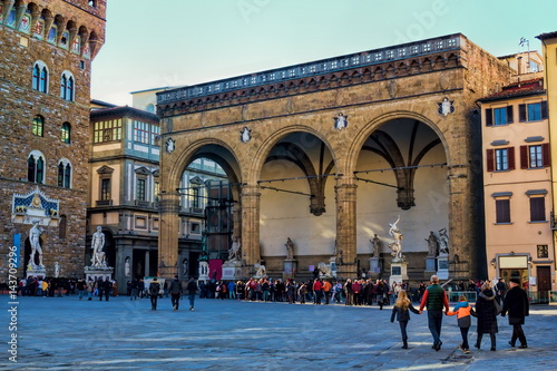 Plakat Florenz, Loggia dei Lanzi