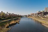 Kamo river view - Kyoto Japan - Gojo bridge