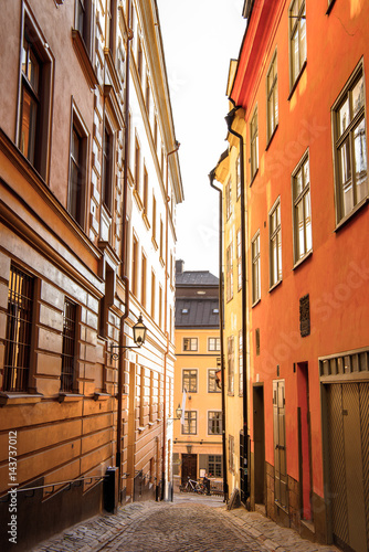 Staande foto Stockholm Architecture of the Old Town (Gamla Stan) of Stockholm, Sweden