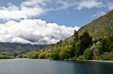 Queenstown New Zealand. Remarkable ranges and lake Wakatipu. - 143741667