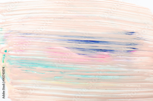 Abstractionism, modern creative art. Abstract background in pastel colors, creativity, smudged pink paint.