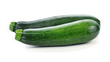 green zucchini vegetables isolated on white