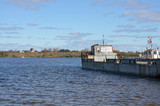 Ferryboat on the Volga River