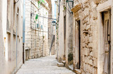 Parts of the old town of Korcula on the island of Korcula, Croatia - 143761832