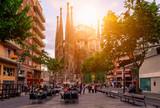 Cozy street in Barcelona, Spain - 143764614