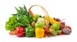 vegetables and fruits on white background - 143783868