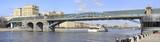 Pushkin Bridge. Navigation. Moscow. April 9, 2017