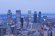 Montreal city blue hour