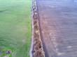 farming field , aerial view