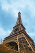 Beautiful Eiffel tower view from below. Amazing architecture design.