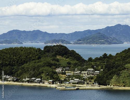small village on island in Japan Seto Inland Sea  Poster