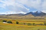 Landscape of Kyrgystan around Son Kul lake