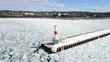 ice winter snow lighthouse form shape northern michigan